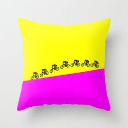 Mountain Bike Throw Pillow