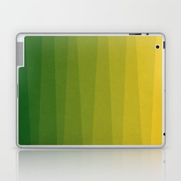 Shades of Grass - Line Gradient Pattern between Lime Green and Bright Yellow Laptop & iPad Skin