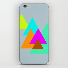 Triangles - neon color scheme series no. 2 iPhone Skin