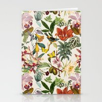botanical Stationery Cards featuring Botanical by Bambouchic