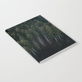 Aerial Photograph of a pine forest in Germany - Landscape Photography Notebook