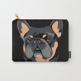 Blue & Tan Frenchie Carry-All Pouch