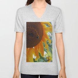 Bee on a Sunflower Unisex V-Neck