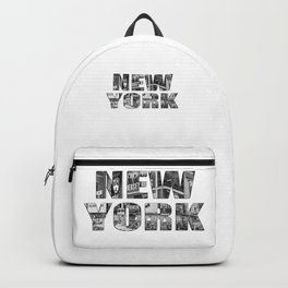 New York  B&W typography Backpack