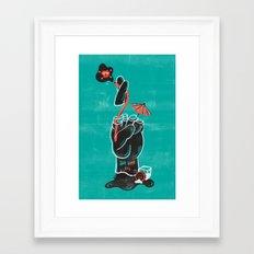 When Good Luck Goes Bad... Framed Art Print