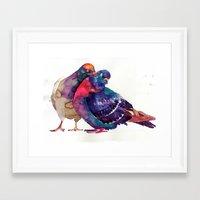 takmaj Framed Art Prints featuring Pigeons by takmaj