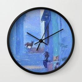 pastel cat Wall Clock