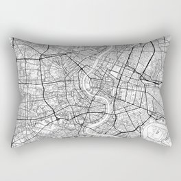 Bangkok Map White Rectangular Pillow