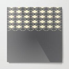 Gray Native Pattern Metal Print