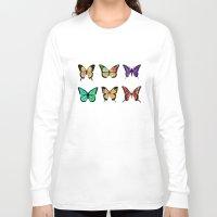 butterflies Long Sleeve T-shirts featuring Butterflies by ShaMiLa