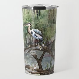 Mr. Blue Heron The Swamp Gatekeeper Travel Mug