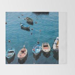 Docked Boats Throw Blanket