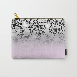 Concrete and Black Marble Mix Pink Gradient Carry-All Pouch