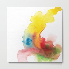abstract watercolor painting Metal Print
