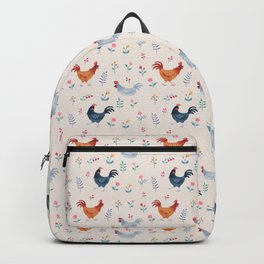 Little Hens (ivory) Backpack