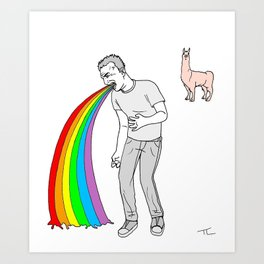 throwinguprainbows Art Print