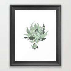 pattern succulent plant Framed Art Print