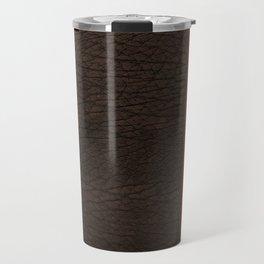 Brown leather look #1 Travel Mug