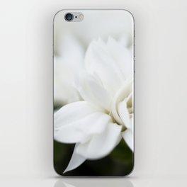 Snow White Flowers on a Dark Background #decor #society6 #buyart iPhone Skin