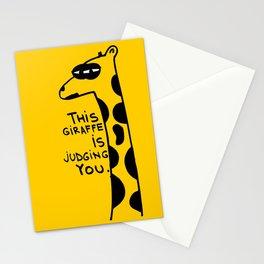 Judging Giraffe Stationery Cards