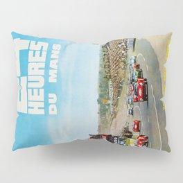 1965 Le Mans poster, Race poster, car poster, garage poster Pillow Sham