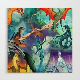 Wings-Of-Fire all dragon Wood Wall Art