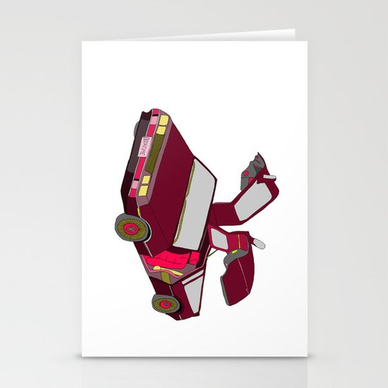 cool girls like flying cars Stationery Cards