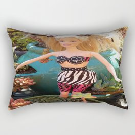 Jungle Barbie Rectangular Pillow