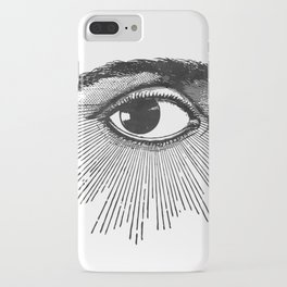 I See You. Black and White iPhone Case