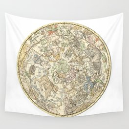 Zodiac constellation Northern Sky Wall Tapestry