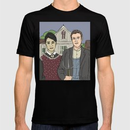 """American Gothic TwentyTwelve"" (ode to Facebook) T-shirt"