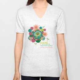 PAVEL polliwog® sings lovely lullabies for his forest friends. Unisex V-Neck