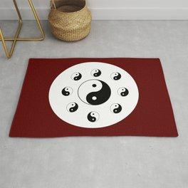 Yin and Yang 13 - Tao,Zen,Taoism,Dao,Harmony,religion,buddhism,buddhist,taijitu,taiji,taoist,china Rug