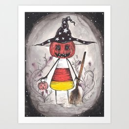 Trick or Treat (Witch) Art Print