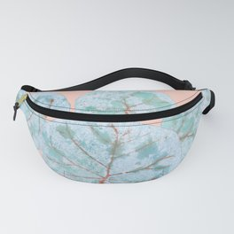 Tropical Sea Grape Leaves Fanny Pack