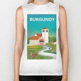 Burgundy, France - Skyline Illustration by Loose Petals Biker Tank