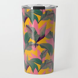 Retro Luxe Lilies Pattern Travel Mug