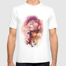 Rihanna Mens Fitted Tee LARGE White