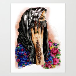 Henna collection: Lathma Art Print