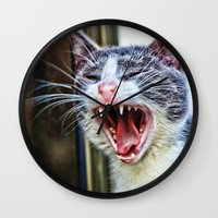 dentist Wall Clocks featuring While at the Dentist by Music of the Heart