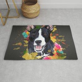 Black pup Rug