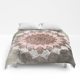BOHOCHIC MANDALA IN CORAL Comforters