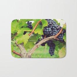 Red Wine Grapes Bath Mat