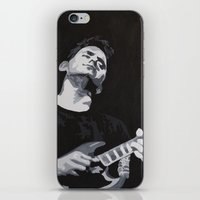 john mayer iPhone & iPod Skins featuring Grayscale John Mayer by Max Freund