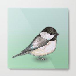 Cute Chickadee Metal Print