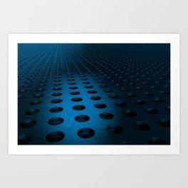 Circular speaker grille Art Print