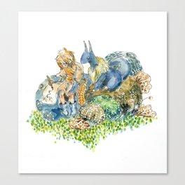 Puffballs Canvas Print
