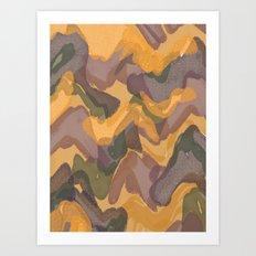 camouflage Art Print