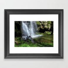 Waterfall at Swallet Falls Framed Art Print