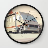 breaking bad Wall Clocks featuring Breaking Bad by Fabiano Souza